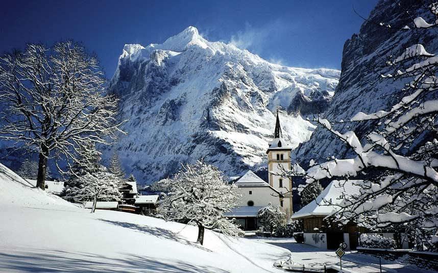 Швейцария Гриндельвальд ноябрь