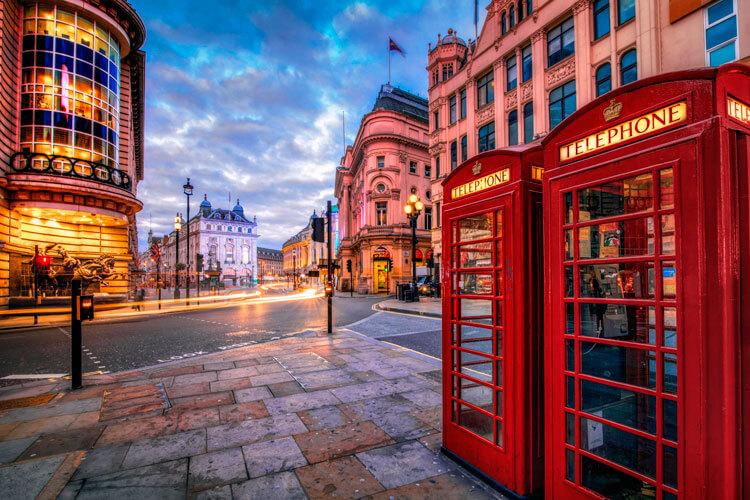 Лондон в Октябре